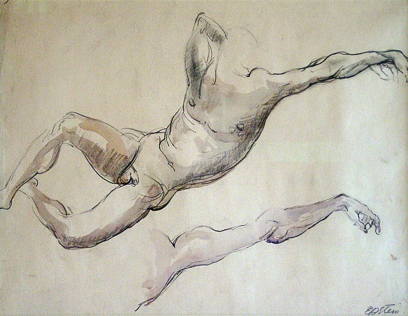 Figure Study, Male Nude (Adam)