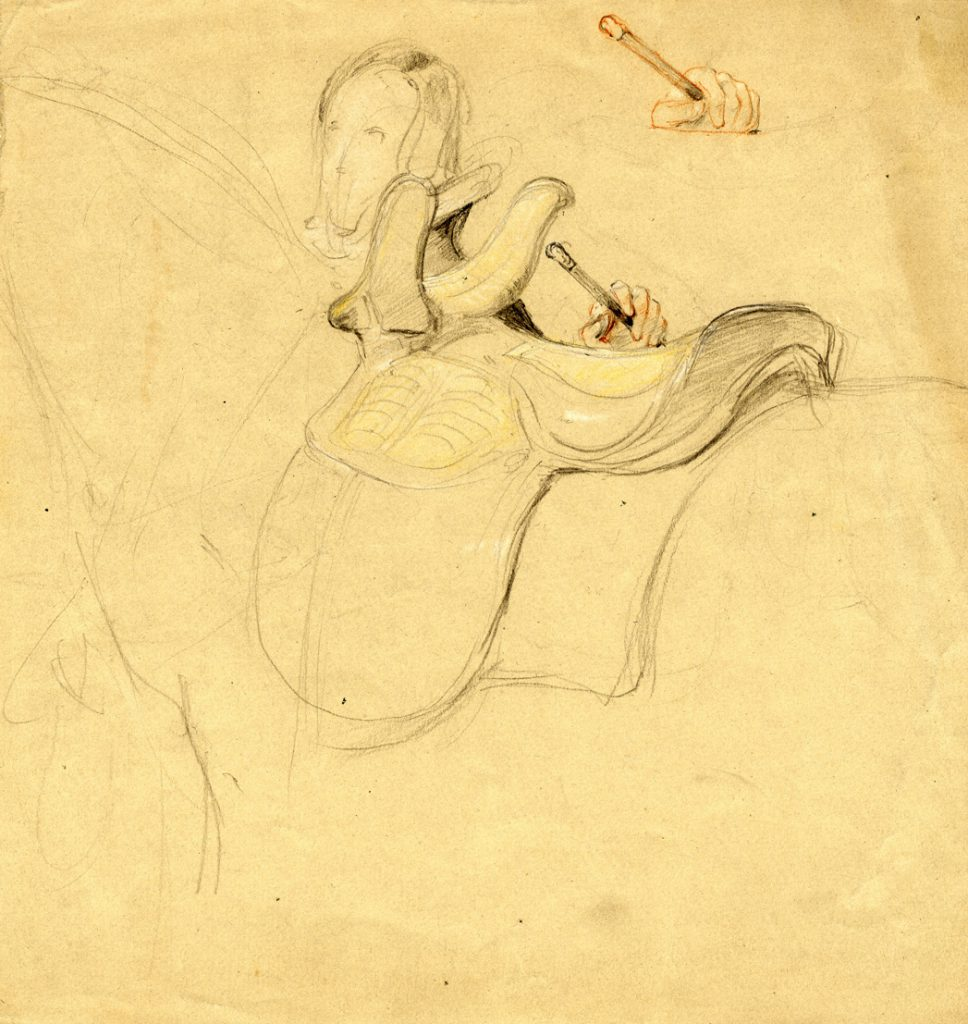 Unknown Sketch of Saddle