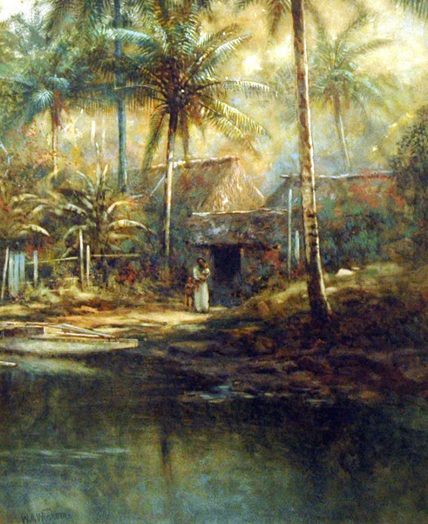 Wadham, W.J. Native Village, Fiji, Levuka Creek