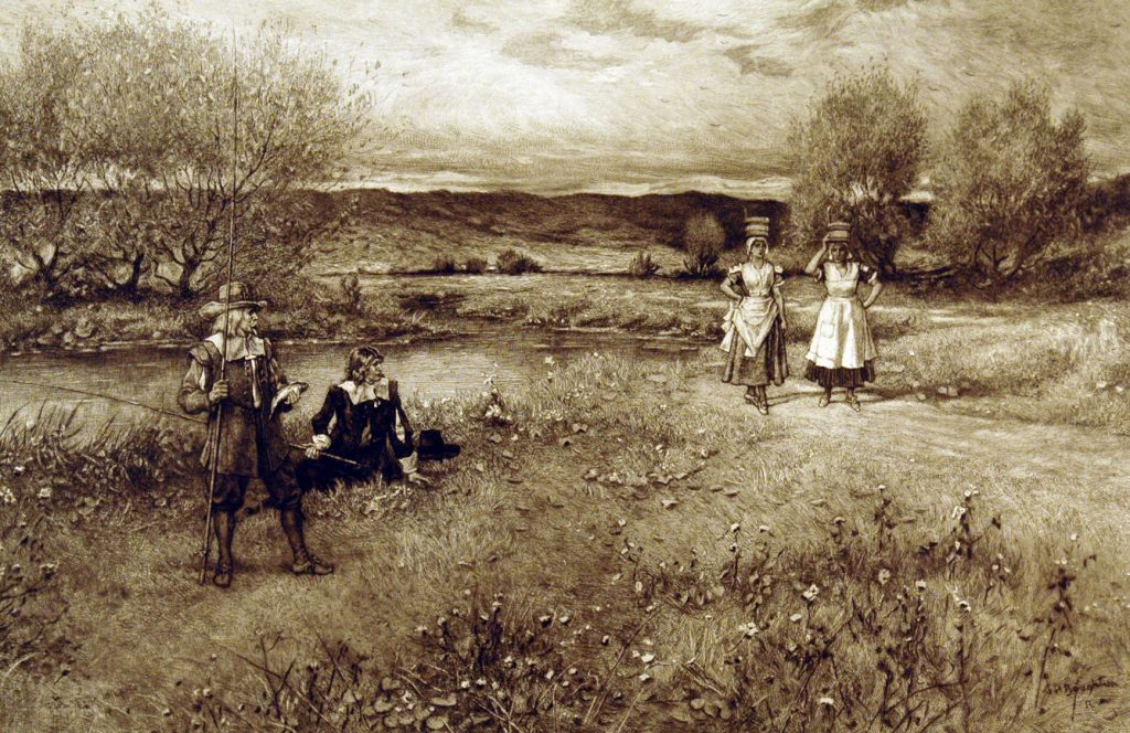 Boughton, G.H. R.A. River Fishing (Walton and the Milkmaids)